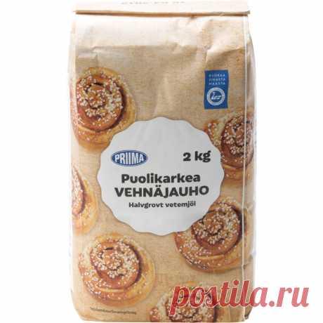 Полу-грубой пшеничной муки 2 кг желательно Tokmannilta