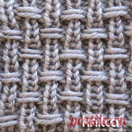 Текстурный узор спицами.. Обсуждение на Блоги на Труде
