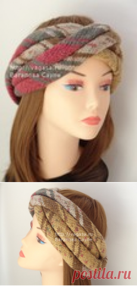 Turban - a bandage knitted. Spokes. Description.