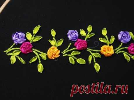 Hand Embroidery - Ribbon Embroidery