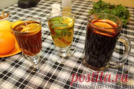 Рецепт: Глинтвейн. Марокканский чай. Имбирный чай на RussianFood.com