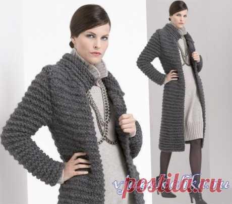 Вязаные женские пальто, кардиганы крючком и спицами – Вязалочка.ру