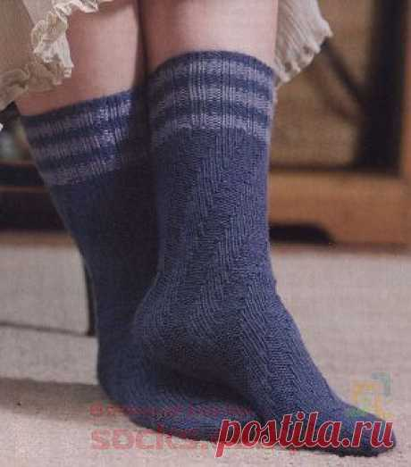 Спиральные носки без пятки | ВЯЗАНЫЕ НОСКИ