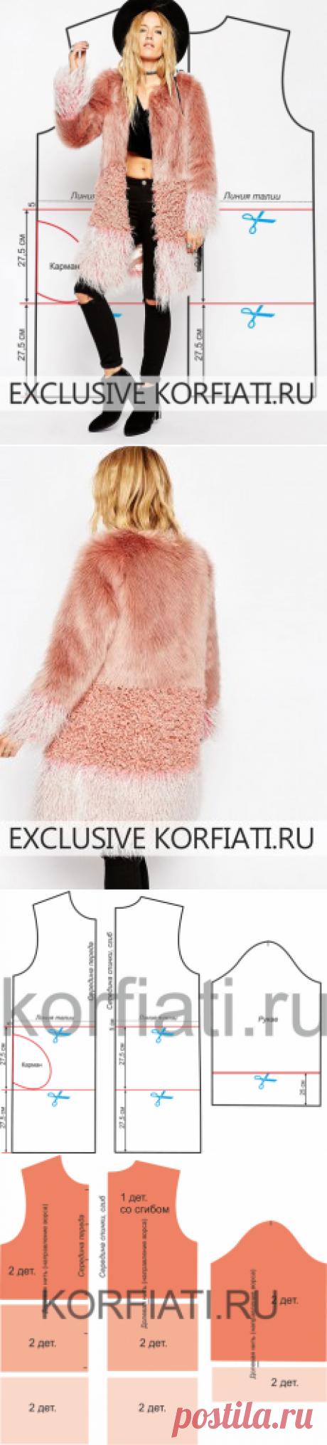 Выкройка мехового пальто от Анастасии Корфиати