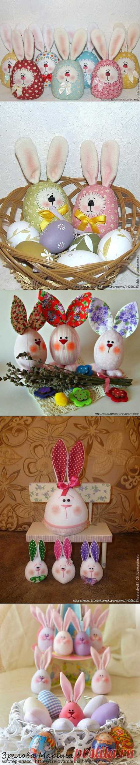Шьем пасхальных яйца-зайцев. Мастер-класс. | Подружки