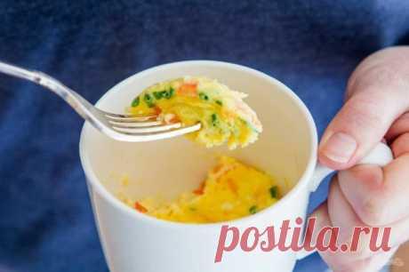 Омлет в микроволновке за 5 минут - пошаговый рецепт с фото на Повар.ру