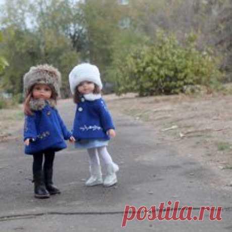 Одна выкройка и цвет, но образы разные. Зимний лук для кукол Paola Reina - Бэйбики Всем здравствуйте! Черное пальто с вышивкой для Мэйли было пробным вариантом для создания других зимних образов, заодно и пальто у