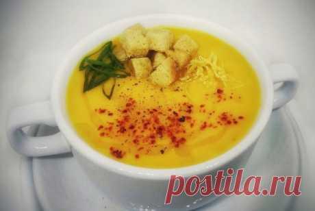 Согревающий тыквенный суп с имбирем, цедрой лимона и красным перцем рецепт – супы. «Еда»