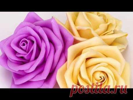 Как Сделать Цветок Розу Видео Мастер Класс. Подарок Своими Руками на День Рождения, 8 Марта.мк diy