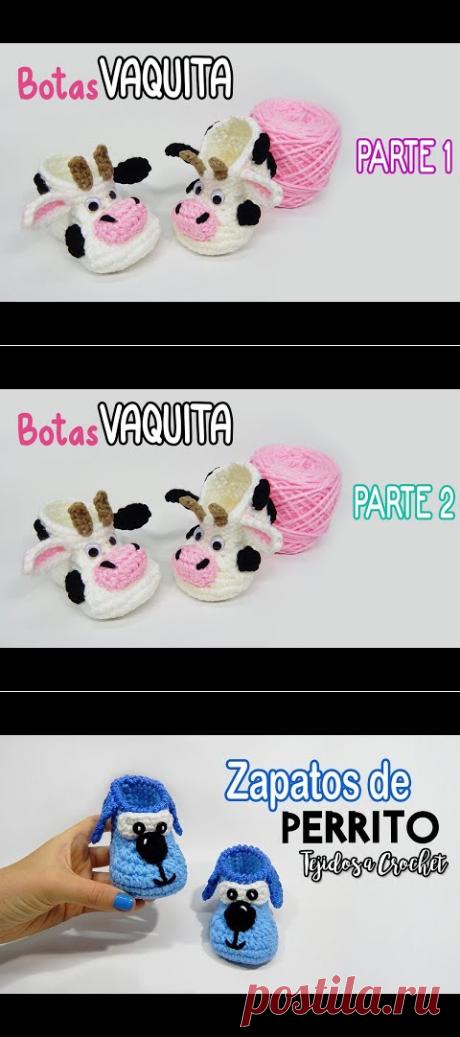 (30) Botas VAQUITA a crochet - PARTE 2 - YouTube