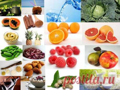 Продукты, сжигающие жиры и регулирующие обмен веществ.