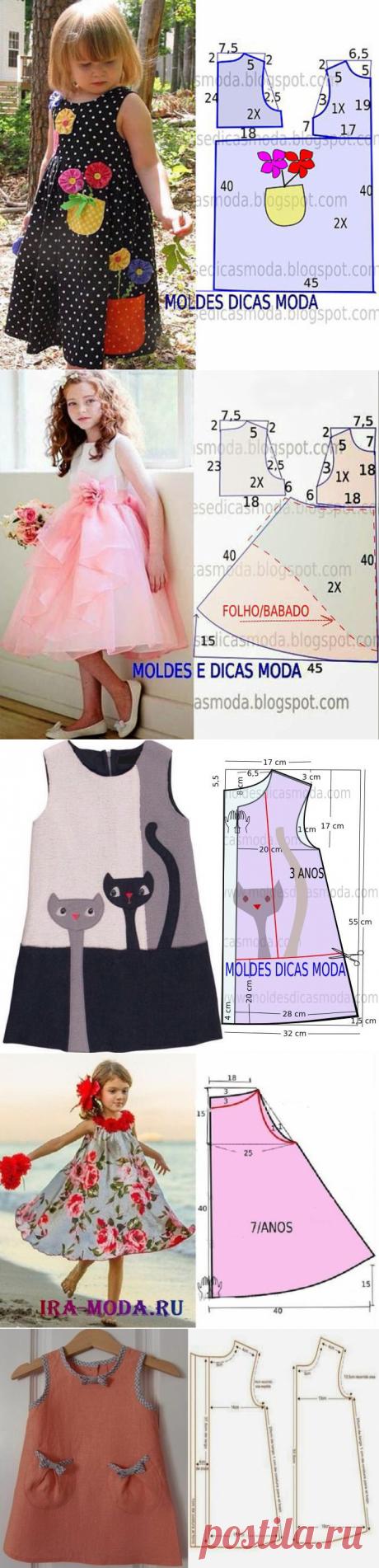 Простые выкройки детских летних платьев