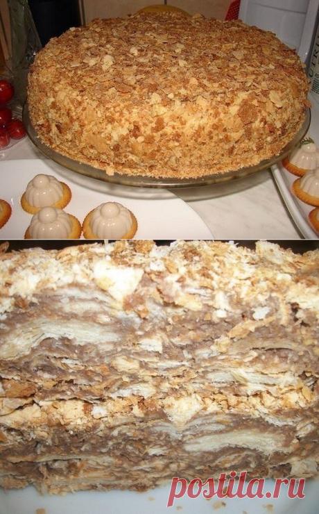 """Оригинальный торт """"Наполеон"""" (за 30 мин!)"""