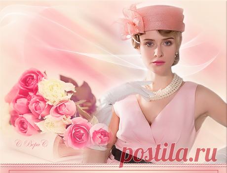 дама в шляпе розы книга 01 Изображение дама в шляпе розы книга 01 в альбоме Мои рамочки №1