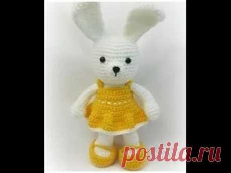 """Вязание крючком. Игрушка """"Заяц"""". Crochet Rabbit. Часть 8"""