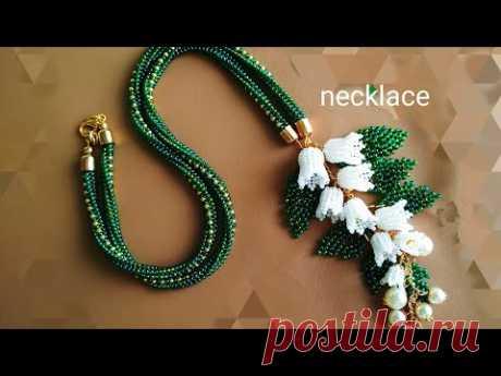 Necklace. Колье. Часть l. Цветы из бисера. МК
