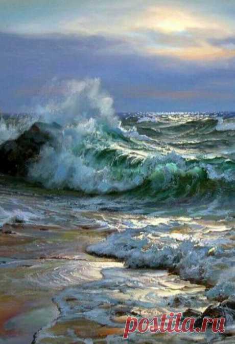 Схема вышивки «Море» - Вышивка крестом