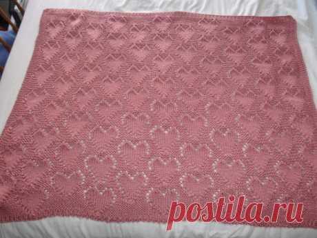 «Lots of Love» Baby Blanket - Бесплатный шаблон для вязания   Вязаные изделия, биты и фото