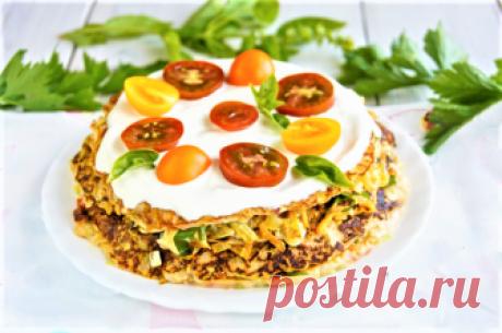 Кабачковый тортик с томатами | Готовим Смакуем | Яндекс Дзен