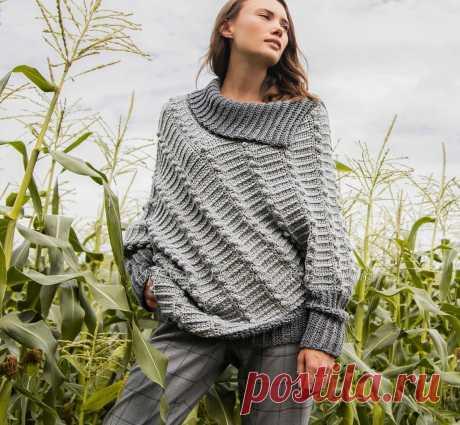 Оригинальный асимметричный свитер и другие варианты классных идей и моделей крючком | Ирина СНежная & Вязание | Яндекс Дзен