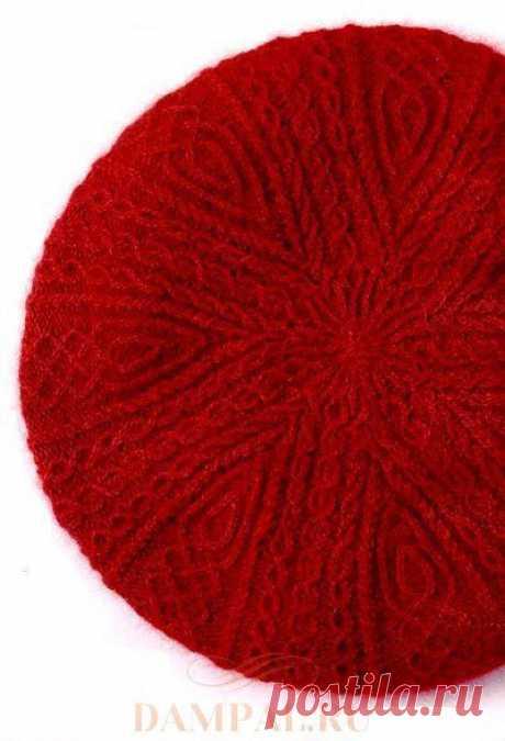 Красный берет «Малина» — HandMade