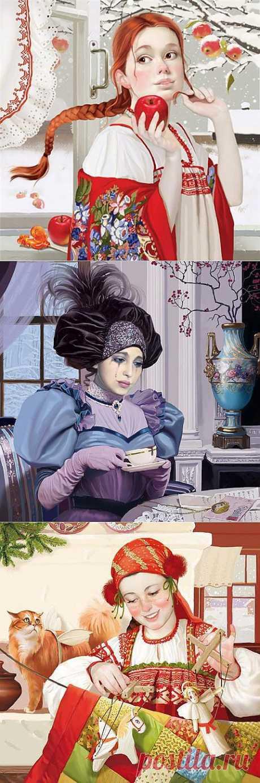 Художник-иллюстратор Татьяна Доронина. Стихи: Первый снег .