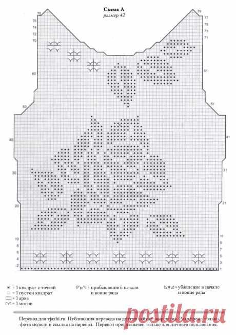 блузки филейной вязкое схемы описание - 9 тыс. картинок - Поиск Mail.Ru