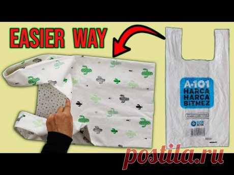 HOW TO MAKE REUSABLE SHOPPİNG BAG / Grocery Bag / Tote Bag / Market Bag / Sustainable / DIY Bag - YouTube