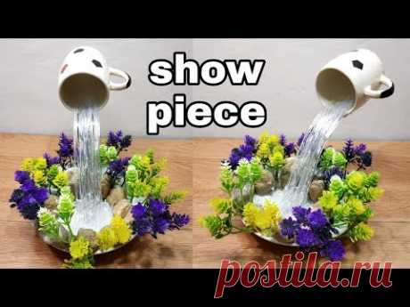 How to make beautiful cup waterfall fountain show piece