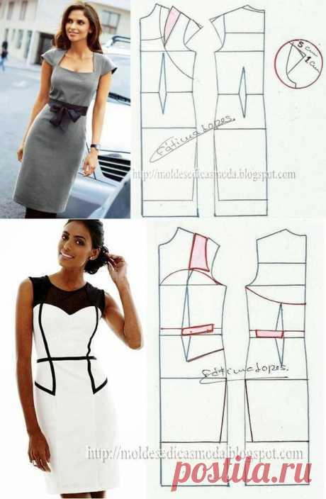 Платье+выкройка .(2часть).