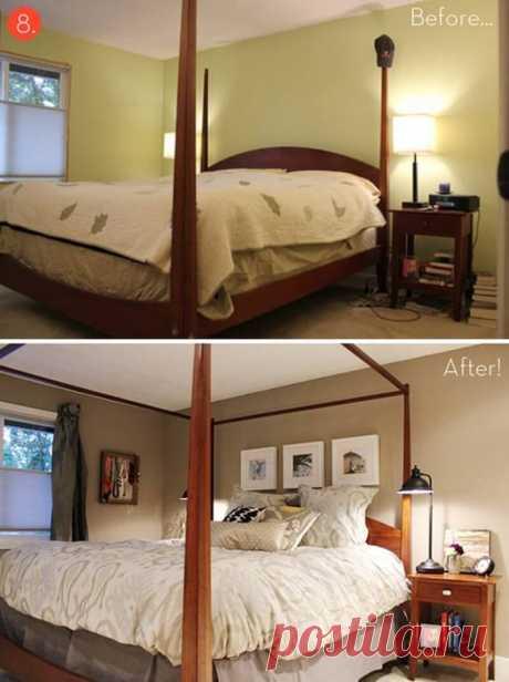 Decoração do Quarto de Casal antes e depois