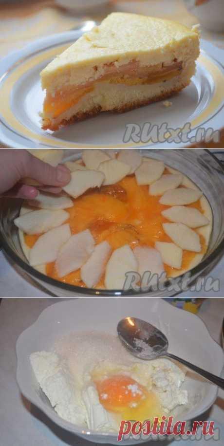 Творожный пирог с хурмой и яблоками (рецепт с фото) | RUtxt.ru