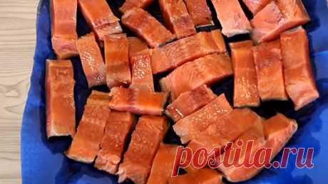 Fresh-salted Humpback salmon, Gentle, Juicy as SALMON. Fantastic Yum-yum!