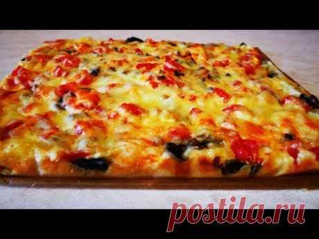 Пицца БЕЗ ХЛОПОТ на ЖИДКОМ тесте БЫСТРО и ВКУСНО