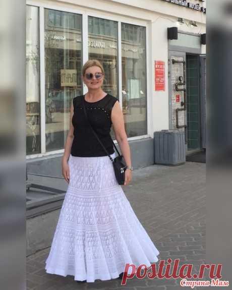 Белая юбка крючком - Яблоневый цвет - Вязание - Страна Мам
