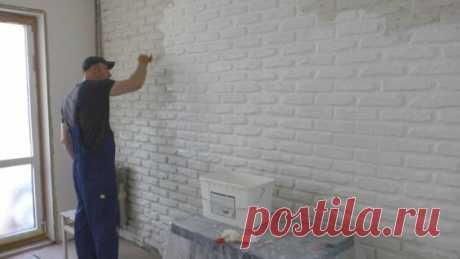 Как сделать имитацию кирпичной кладки на стену? Продолжение - Яндекс.Видео