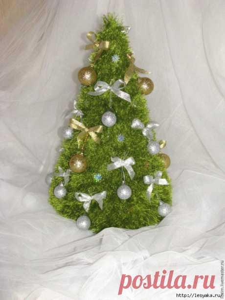 Как связать новогоднюю елку своими руками за один вечер!