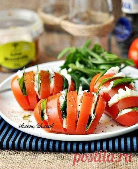 Оригинальная закуска из помидоров.