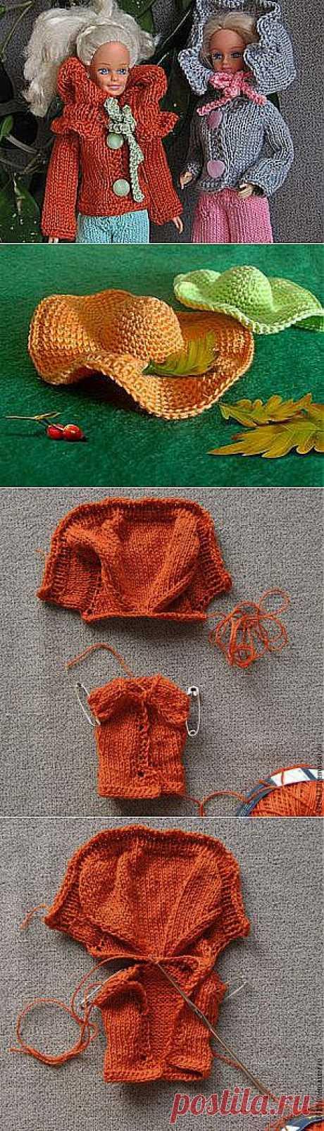 Курточка с воротником-капюшоном для барби, для интерьерных кукол и для тильд - Ярмарка Мастеров - ручная работа, handmade