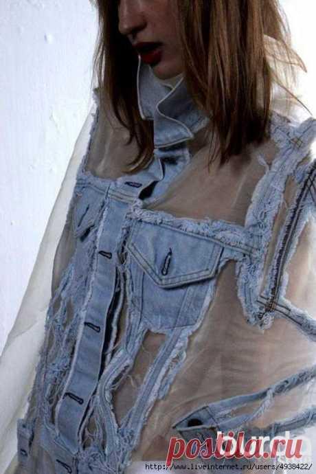 Оригинальная переделка джинсовки (Diy) Модная одежда и дизайн интерьера своими руками