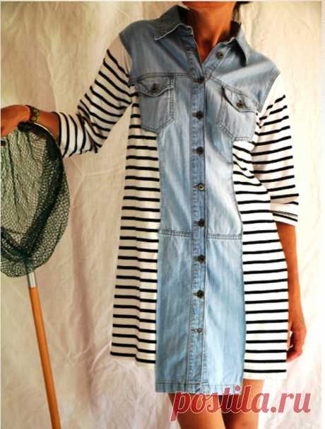 Платье из рубашки (2 DIY) Модная одежда и дизайн интерьера своими руками