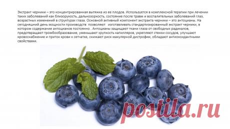 Черника-одна из самых полезных ягод для глаз.К сожалению у нас нет возможности принимать её каждый день круглый год.