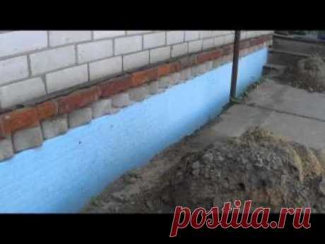 Утепление фундамента своими руками (с видео) | drevmassiw | Яндекс Дзен