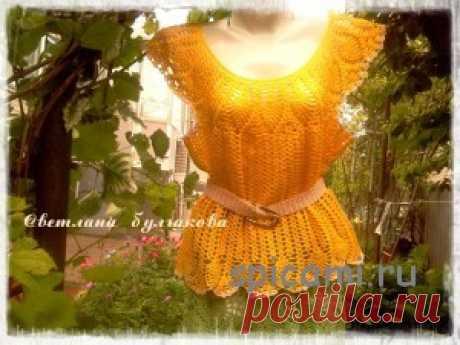 Ажурная юбка в пол и топ узором ананасы | Вязание спицами, крючком, уроки вязания
