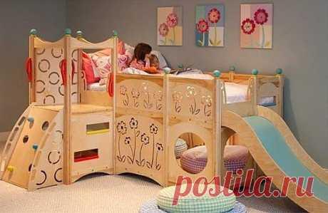 Сказочные интерьеры детских комнат.