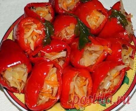 Болгарский перец, фаршированный капустой