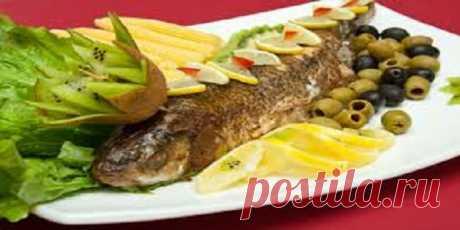 Рыба запеченная с орехами и гранатом | Кулинария