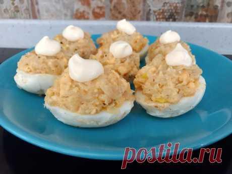 Необычный рецепт закуски из яиц. Родители всегда готовили нам такое в дестве. Как хорошо плохо мы жили.   Сам поешь и жену удиви.   Яндекс Дзен