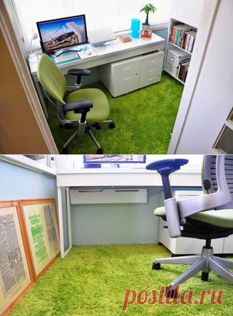 Небольшой и солнечный домашний офис. Как Вы думаете, где? ЛОДЖИЯ