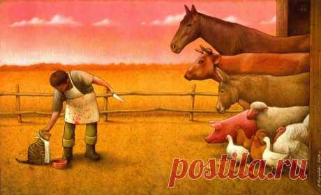 В этой картинке заложен глубокий смысл! Я не вегетерианец, но это заставило меня задуматься. Иногда люди неправильно расставляют приоритеты.